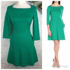 Eliza J Ponte Knit Fit & Flare Dress   4P